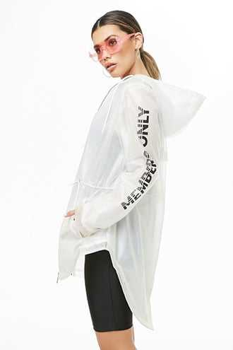 Members Only Raincoat at Forever 21  White - GOOFASH