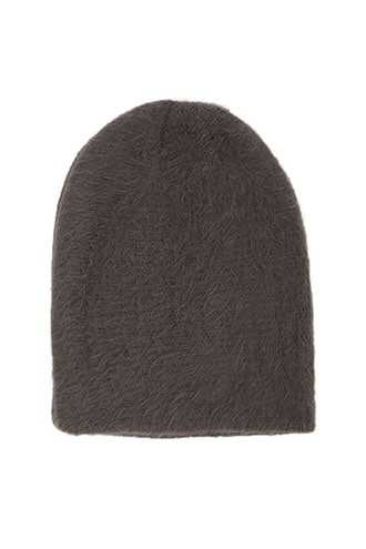 Men Fuzzy Beanie at Forever 21  Charcoal - GOOFASH