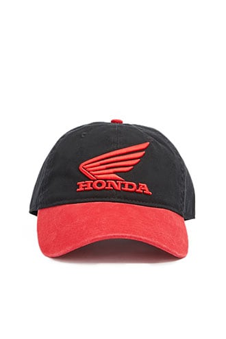 Men Honda Logo Dad Cap at Forever 21  Black/red - GOOFASH