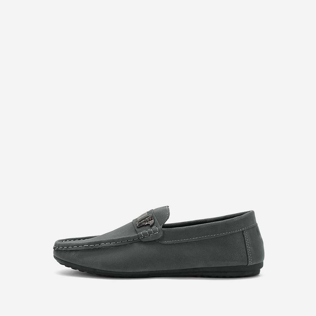 Men Seam Detail Slip On Loafers - Shein - GOOFASH