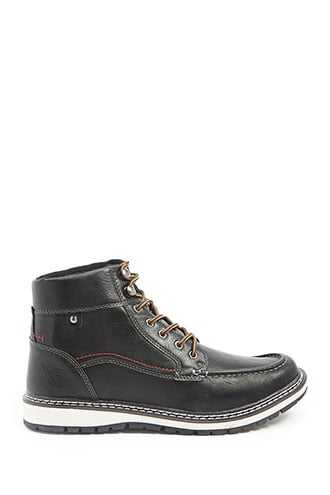 Men Xray Faux Leather Boots at Forever 21  Black - GOOFASH