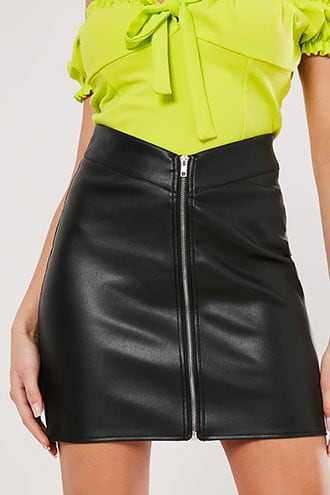 Missguided Faux Leather Mini Skirt at Forever 21  Black - GOOFASH