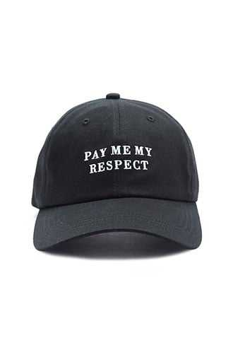 Pay Me My Respect Graphic Dad Cap at Forever 21 Black/white - GOOFASH