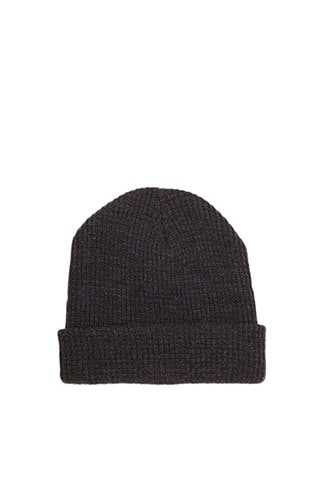 Ribbed Knit Beanie at Forever 21  Charcoal Heather - GOOFASH