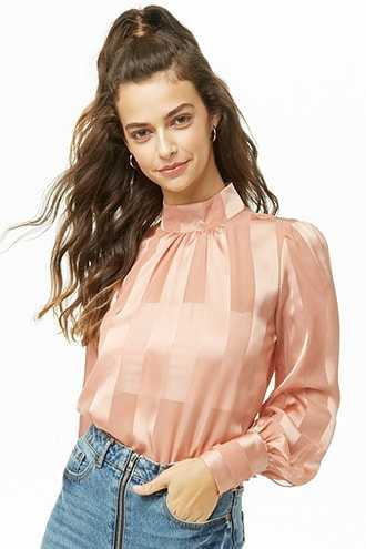Shadow Striped Top at Forever 21  Blush - GOOFASH