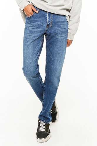 Straight-Leg Jeans at Forever 21  Denim Washed - GOOFASH