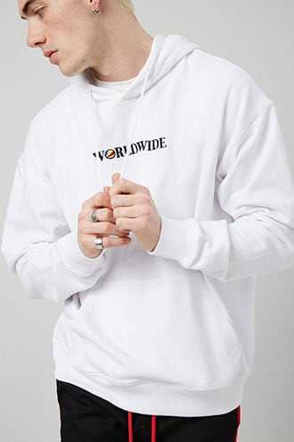Worldwide Graphic Hoodie at Forever 21  White/multi - GOOFASH