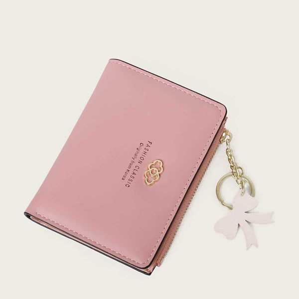 Bow Charm Decor Purse in Pink by ROMWE on GOOFASH