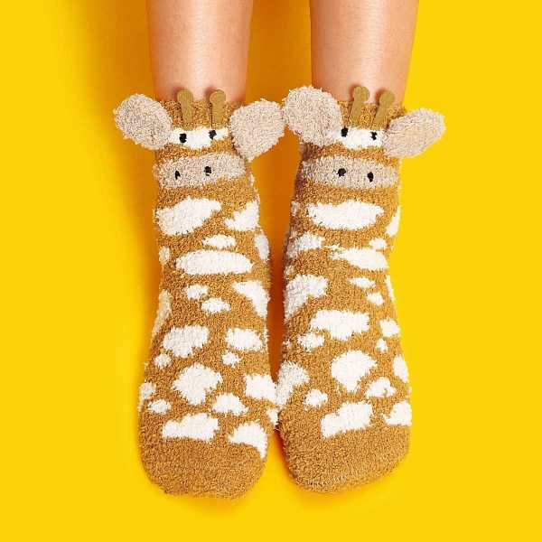 Cartoon Fluffy Socks 1pair - Shein - GOOFASH