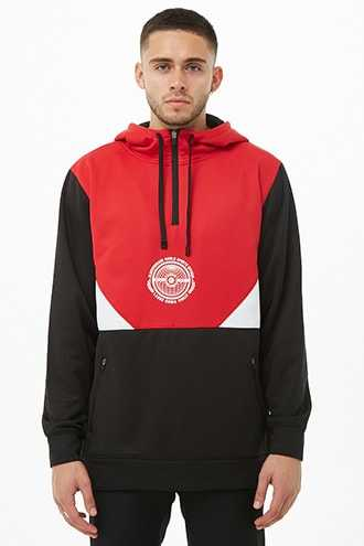 Elbowgrease World Sports Graphic Hoodie at Forever 21  Red/black - GOOFASH