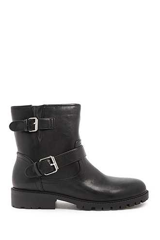 Forever 21 Combat Ankle Boots  Black - GOOFASH