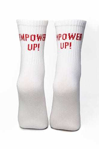 Forever 21 Empower Up! Graphic Crew Socks  Red/multi - GOOFASH