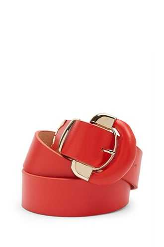 Forever 21 Faux Leather Waist Belt  Red - GOOFASH