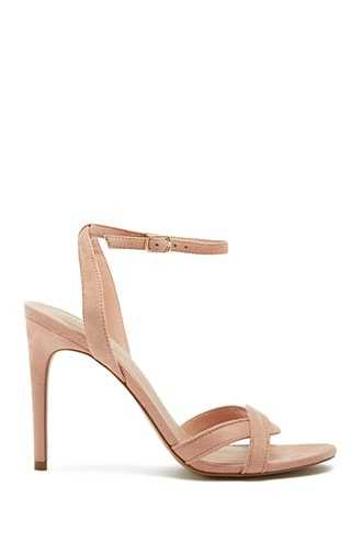 Forever 21 Faux Suede Heels  Blush - GOOFASH
