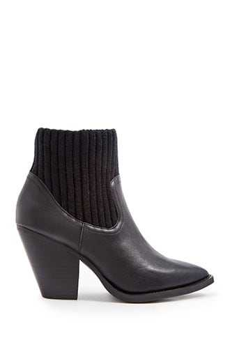 Forever 21 Jane And The Shoe Sock Booties  Black - GOOFASH
