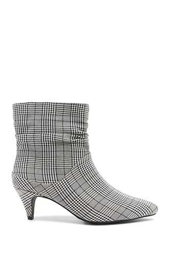 Forever 21 Jane and the Shoe Plaid Booties  Black/white - GOOFASH