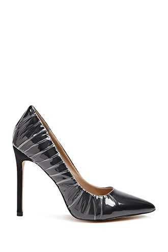 Forever 21 Lemon Drop by Privileged Pointed Toe Pumps  Black - GOOFASH