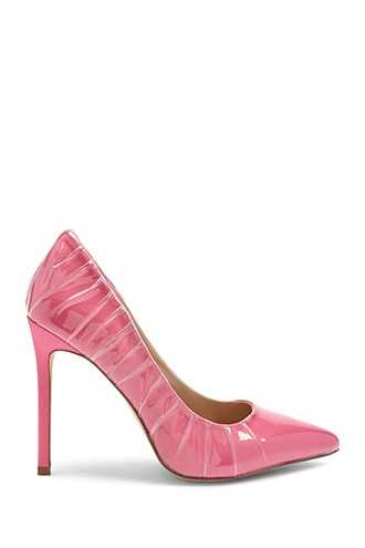 Forever 21 Lemon Drop by Privileged Pointed Toe Pumps  Fuchsia - GOOFASH