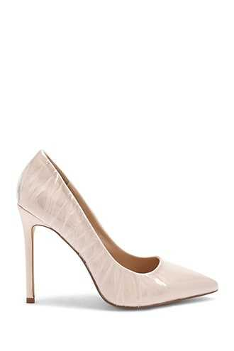 Forever 21 Lemon Drop by Privileged Pointed Toe Pumps  Nude - GOOFASH
