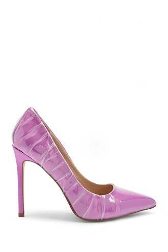Forever 21 Lemon Drop by Privileged Pointed Toe Pumps  Purple - GOOFASH