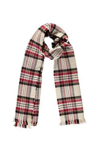 Forever 21 Plaid Twill Oblong Scarf Taupe/multi - GOOFASH