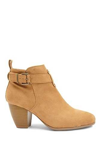 Forever 21 Qupid Faux Suede Booties  Camel - GOOFASH