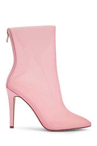 Forever 21 Transparent Stiletto Booties  Pink - GOOFASH