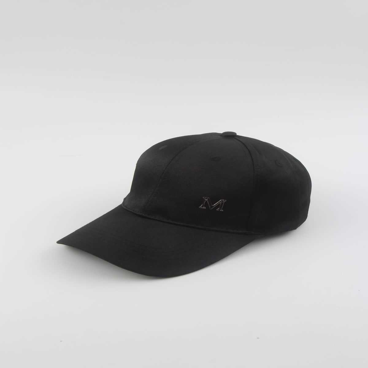 Guys M Decor Baseball Cap in Black by ROMWE on GOOFASH