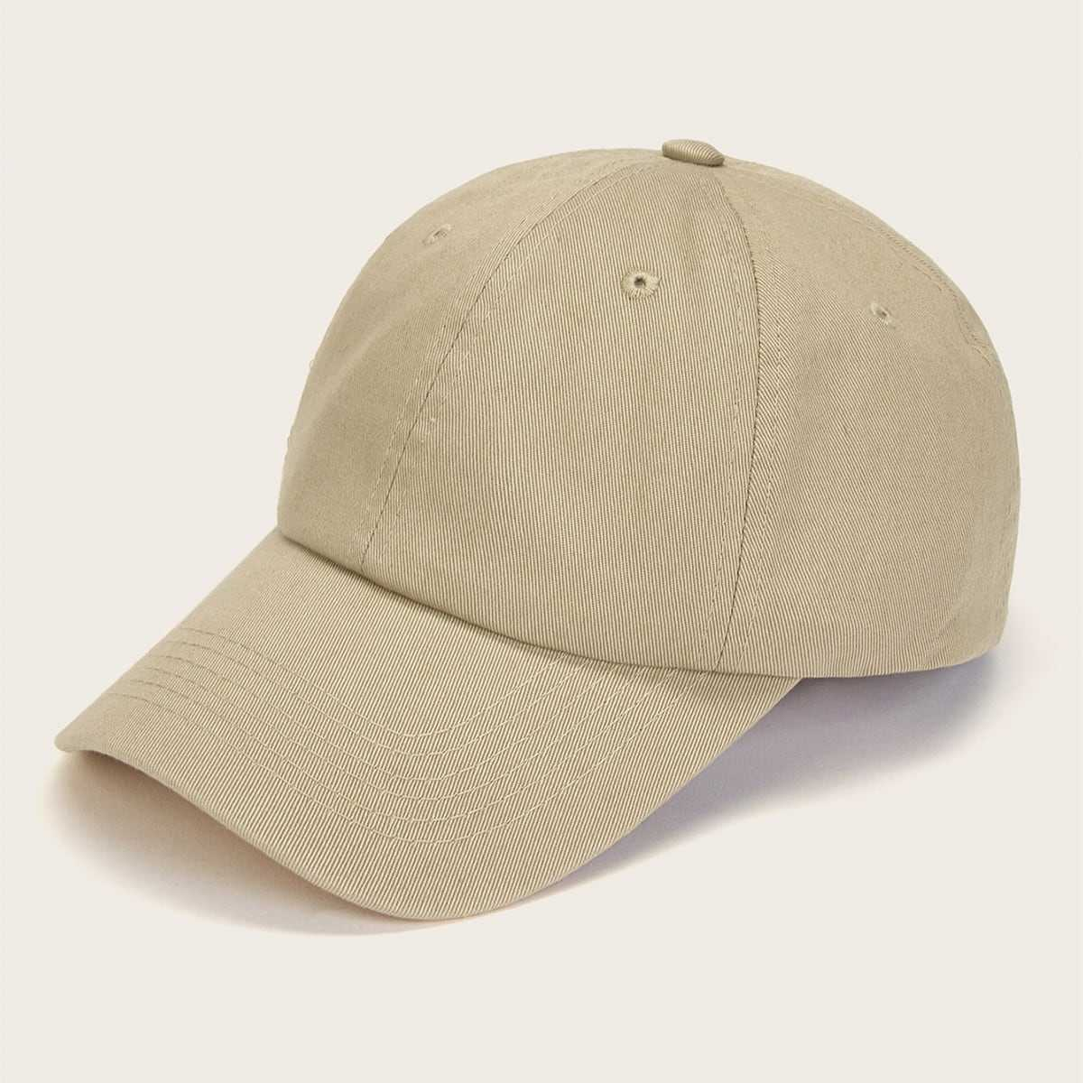 Guys Plain Baseball Cap in Khaki by ROMWE on GOOFASH