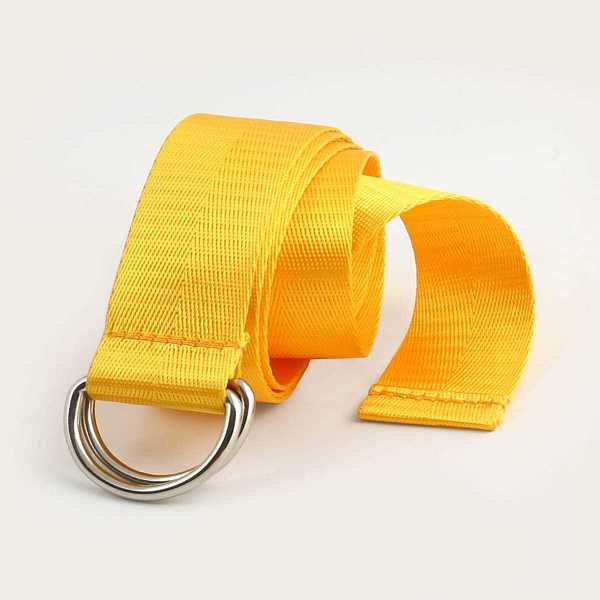 Guys Solid Waist Belt in Yellow by ROMWE on GOOFASH
