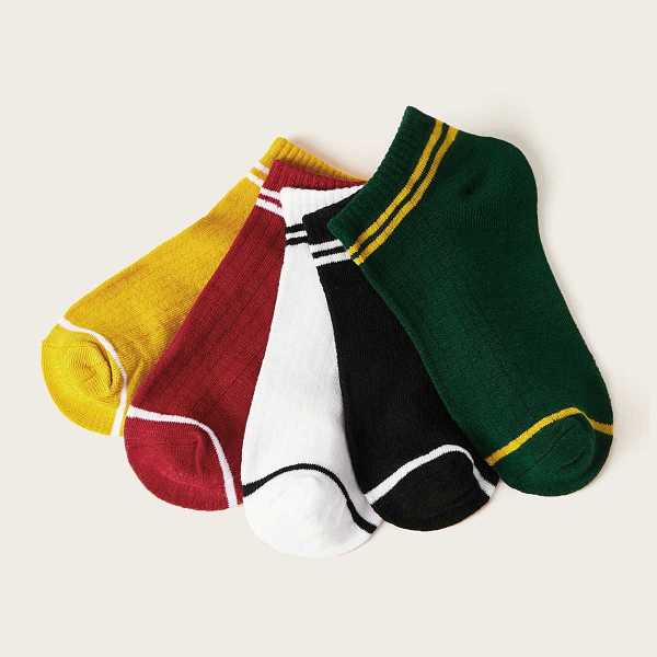 Guys Striped Ankle Socks 5pairs in Multicolor by ROMWE on GOOFASH