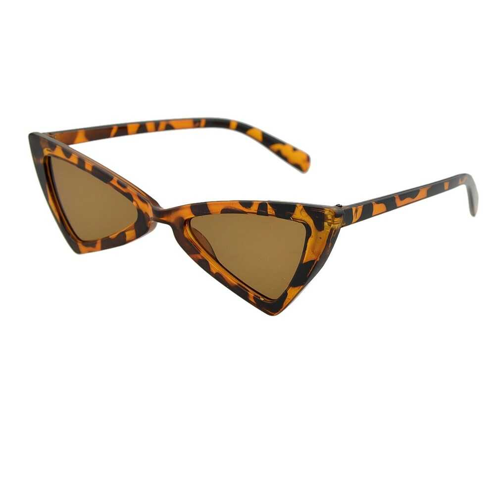 Leopard Multicoloured Exaggerated Triangle Cat Eye Plastic Lady Sunglasses in Multicolor by ROMWE on GOOFASH