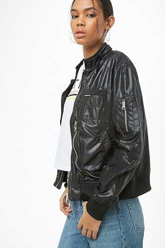 Members Only Helix Iconic Racer Jacket at Forever 21  Black - GOOFASH
