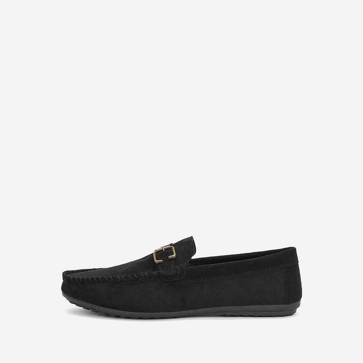 Men Buckle Decor Slip On Loafers - Shein - GOOFASH