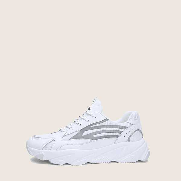 Men Lace-up Chunky Sneakers - Shein - GOOFASH