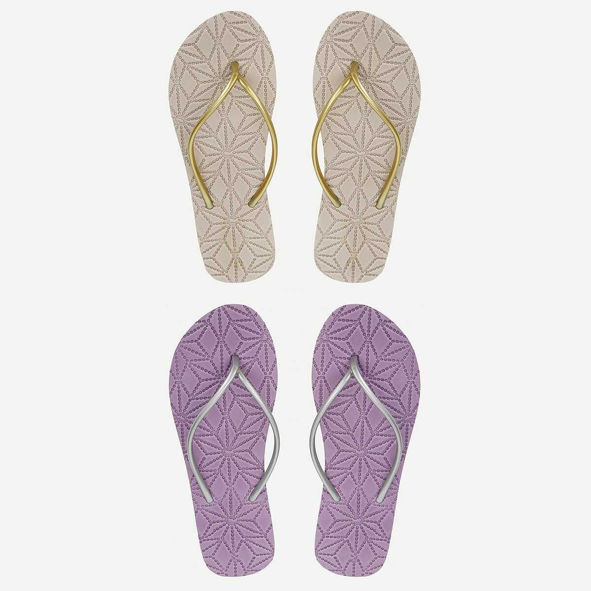 Non Slip Bottom Toe Post Slippers - Shein - GOOFASH