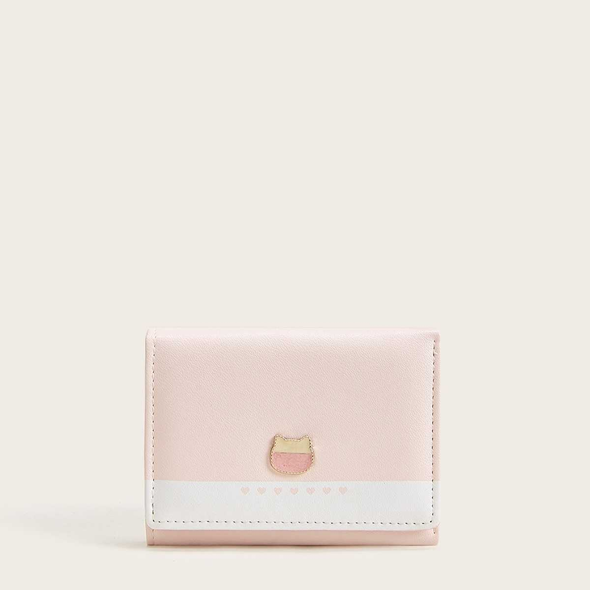 Quilted Detail Fold Over Purse in Multicolor by ROMWE on GOOFASH