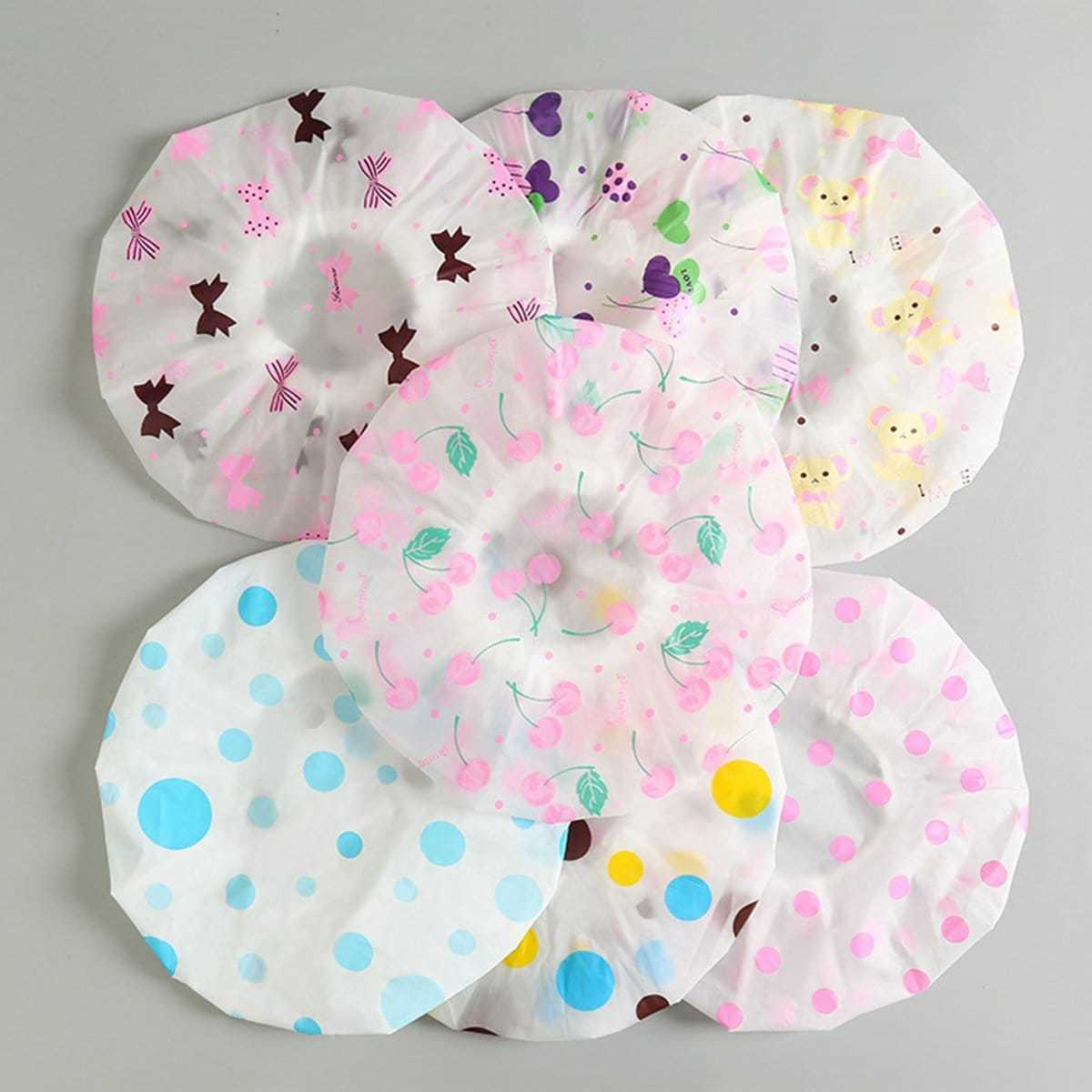 Random Color Dry Shower Cap 2pcs in Multicolor by ROMWE on GOOFASH
