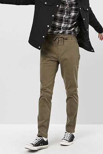 Relaxed Drawstring Pants at Forever 21  Olive - GOOFASH