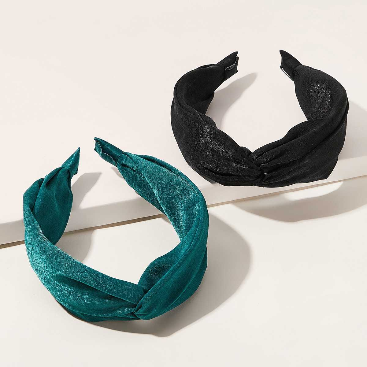 Simple Headband 2pcs in Multicolor by ROMWE on GOOFASH