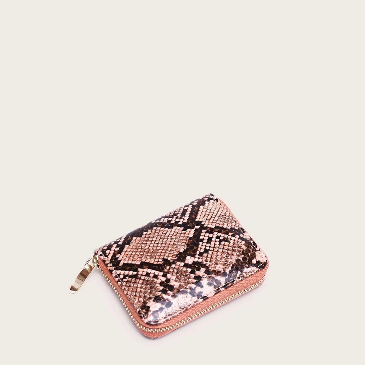 Snakeskin Print Purse in Pink by ROMWE on GOOFASH