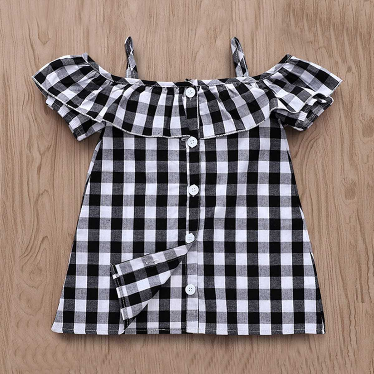 Toddler Girls Button Front Gingham Blouse - Shein - GOOFASH
