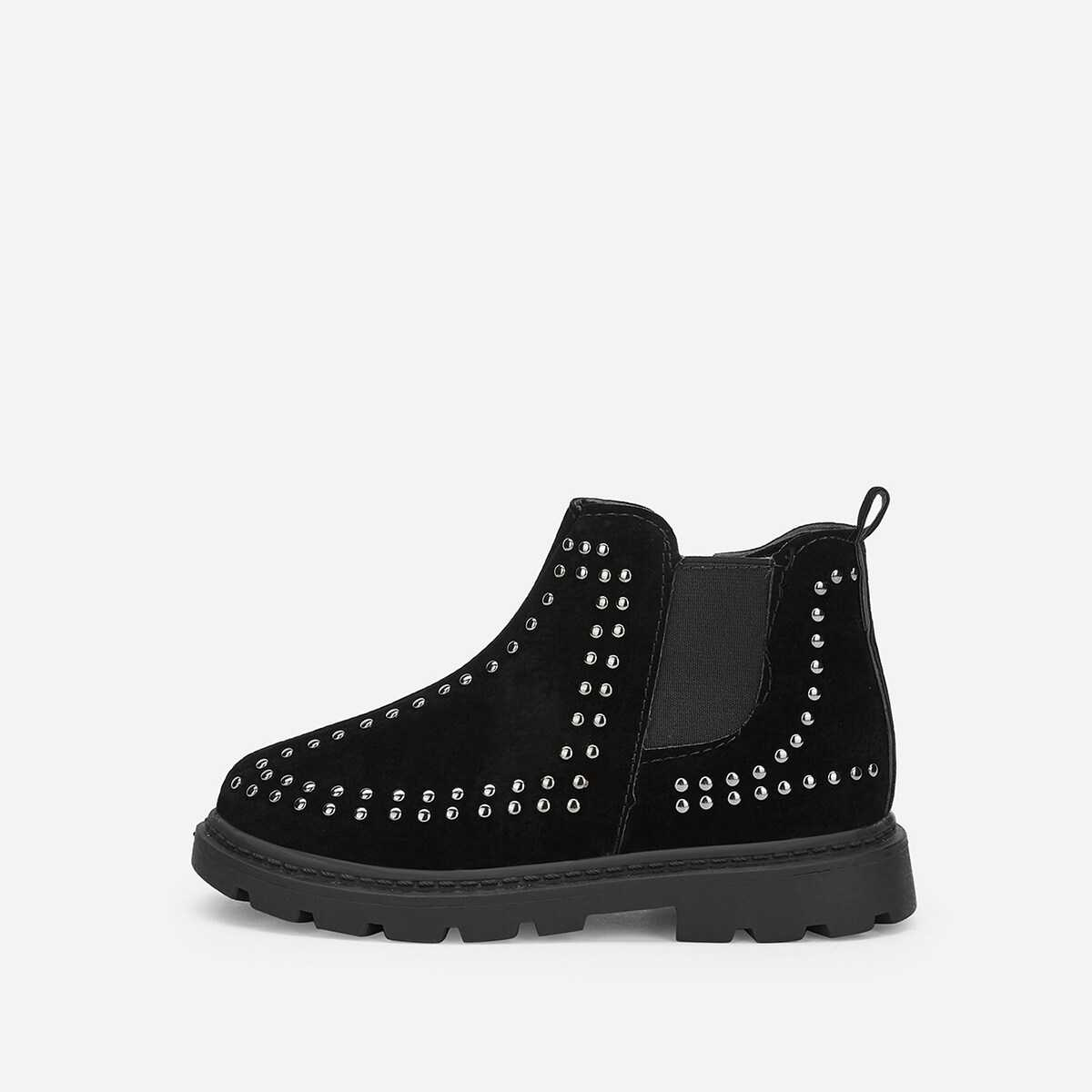 Toddler Girls Studded Decorated Ankle Boots - Shein - GOOFASH