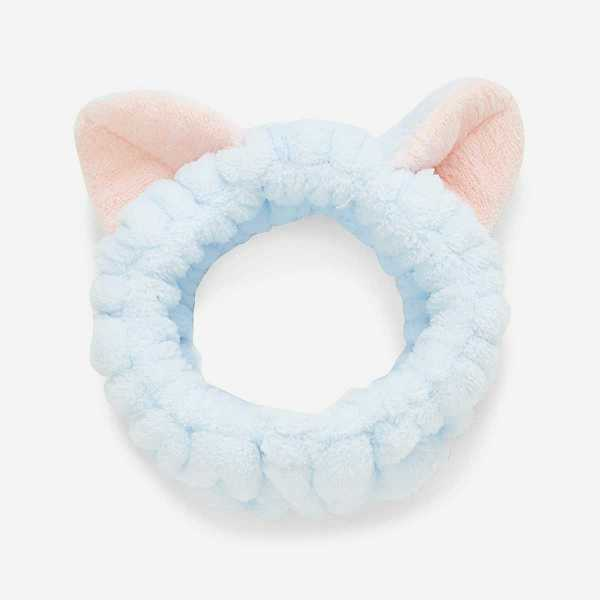 Two Tone Headband With Cat Ear in Blue by ROMWE on GOOFASH