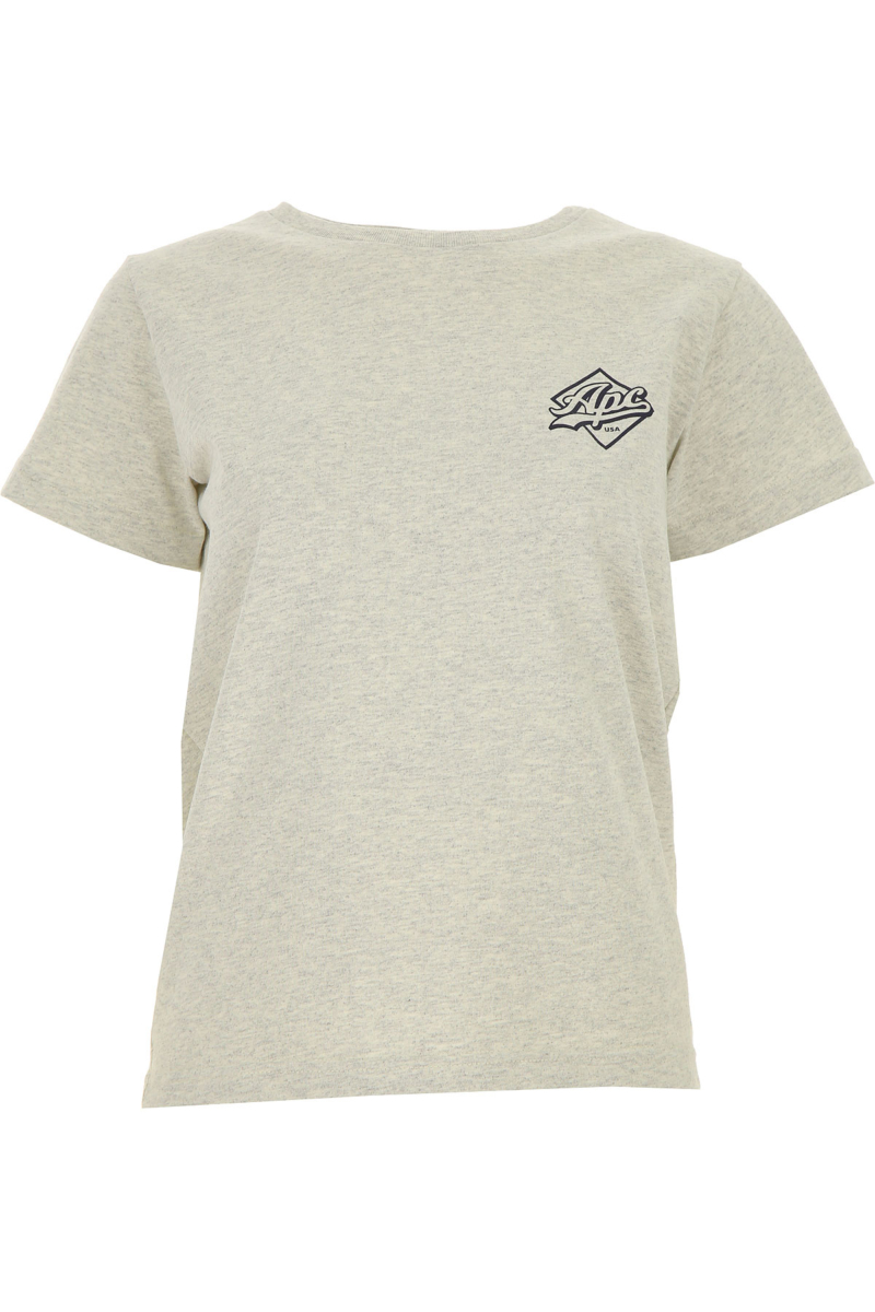 A.P.C T-Shirt for Women On Sale Grey SE - GOOFASH