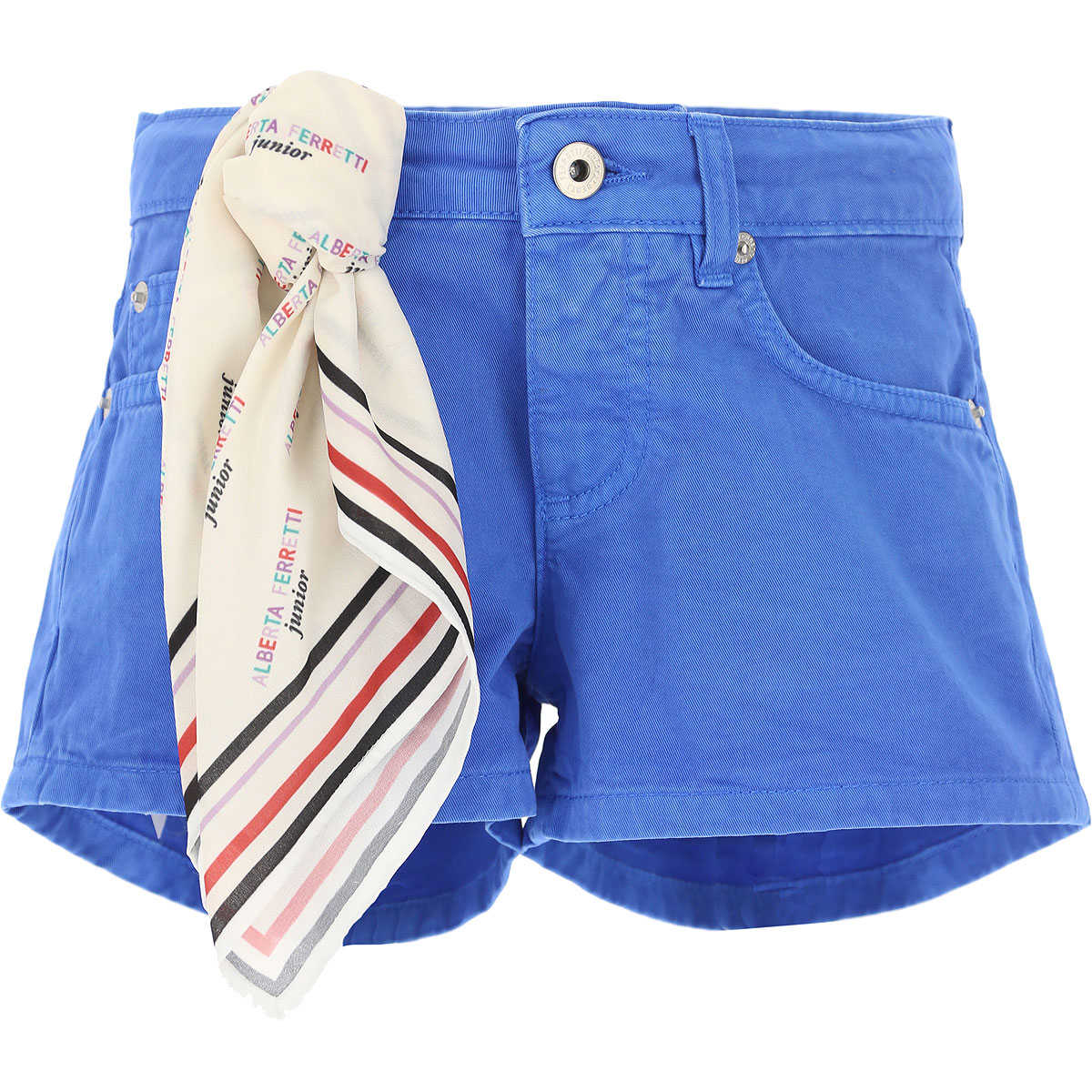 Alberta Ferretti Kids Shorts for Girls On Sale Blue SE - GOOFASH