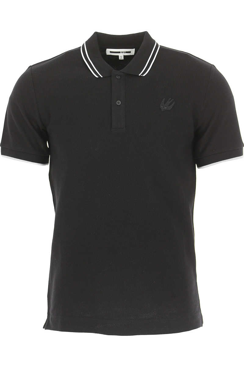 Alexander McQueen McQ Polo Shirt for Men On Sale in Outlet Black SE - GOOFASH
