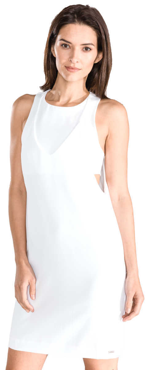 Armani Exchange Dress White UK - GOOFASH