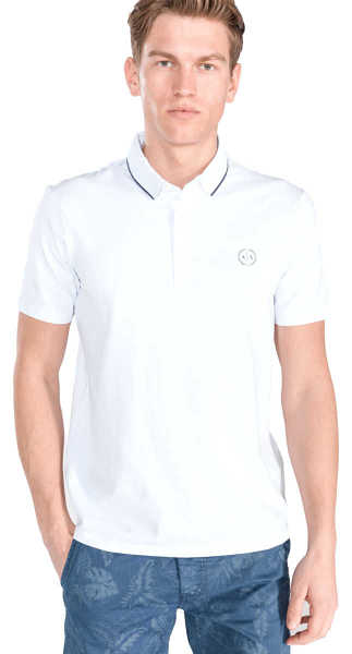 Armani Exchange Polo Shirt White UK - GOOFASH