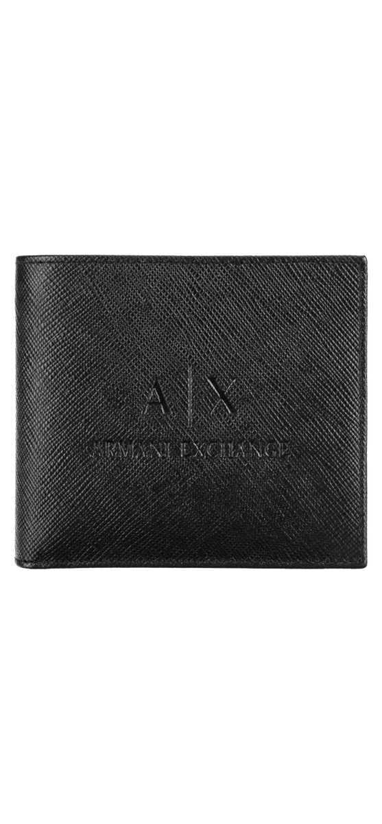 Armani Exchange Wallet Black UK - GOOFASH